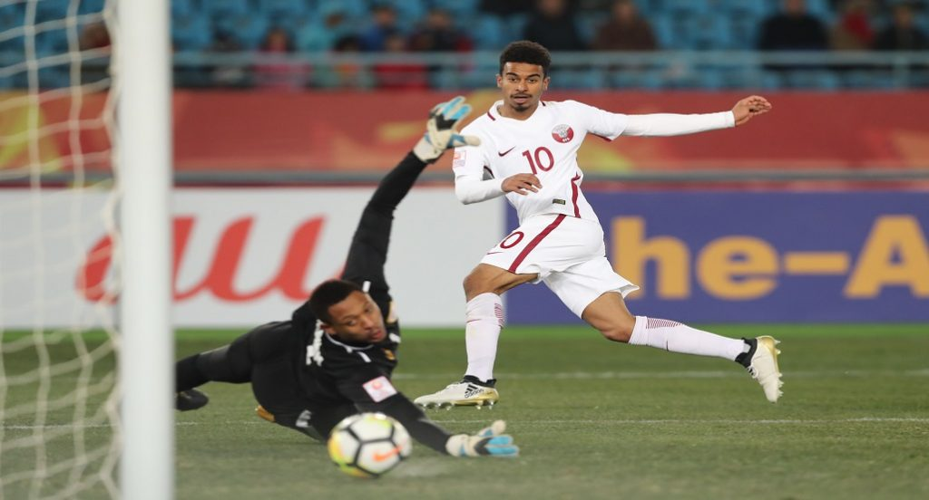 Afif strikes as Qatar notch second win in China