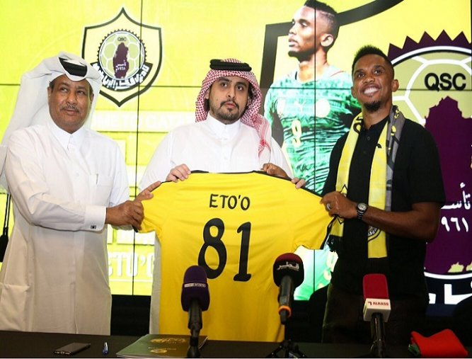 Cameroon's legend Eto'o joins Qatar SC