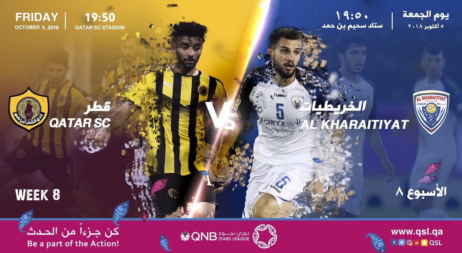 Qatar SC, Al Kharaitiyat seek second win