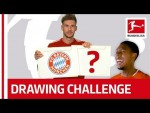 Bundesliga Stars Try to Draw Their Team Logos - Witsel, Goretzka & Co.