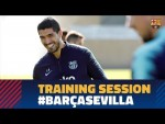 Sergio, Suárez and Sergi Roberto, back in training