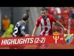 Resumen de Real Sporting vs Málaga CF (2-2)