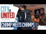 EXCLUSIVE DRESSING ROOM CELEBRATIONS | MENDY v USYK | Man City 3-1 Man Utd
