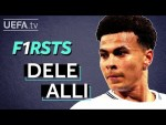DELE ALLI reacts to his first #UCL goal