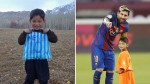 Afghan boy who made Lionel Messi shirt out of plastic bag flees home again