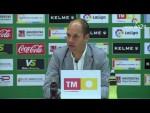 Rueda de prensa de   José Alberto López tras el Elche CF vs Real Sporting (0-0)
