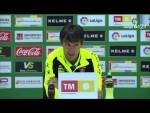 Rueda de prensa de Pacheta tras el Elche CF vs Real Sporting (0-0)