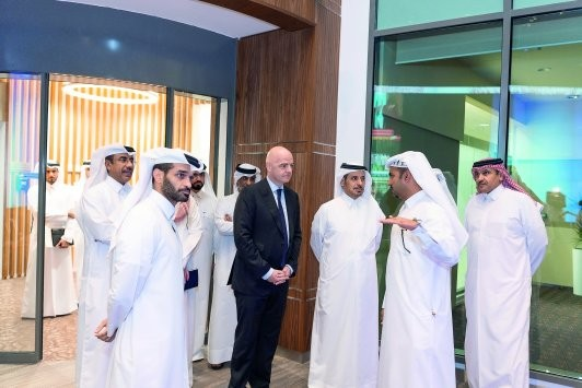 FIFA President meets Prime Minister, top officials