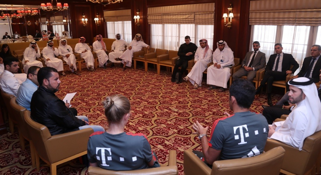 QSL holds interactive session with Bayern's Sporting Director Salihamidzic