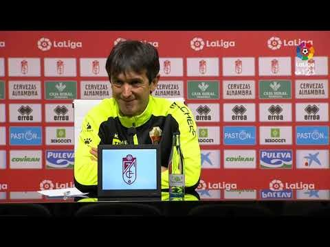 Rueda de prensa de Pacheta tras el Granada CF vs Elche CF (2-1)