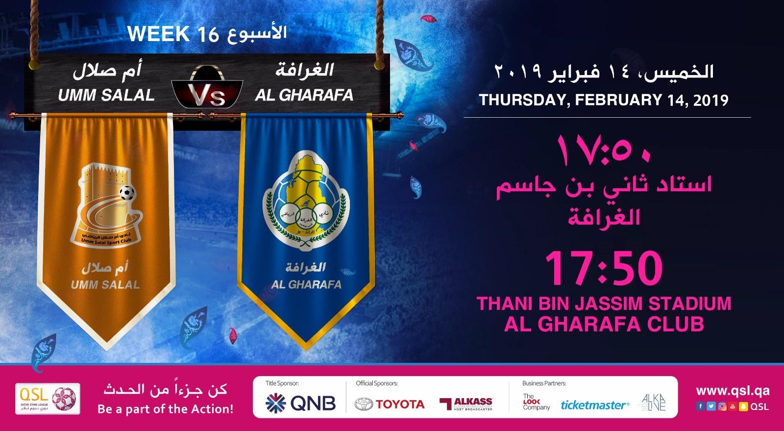QNB Stars League Week 16 — Umm Salal vs Al Gharafa
