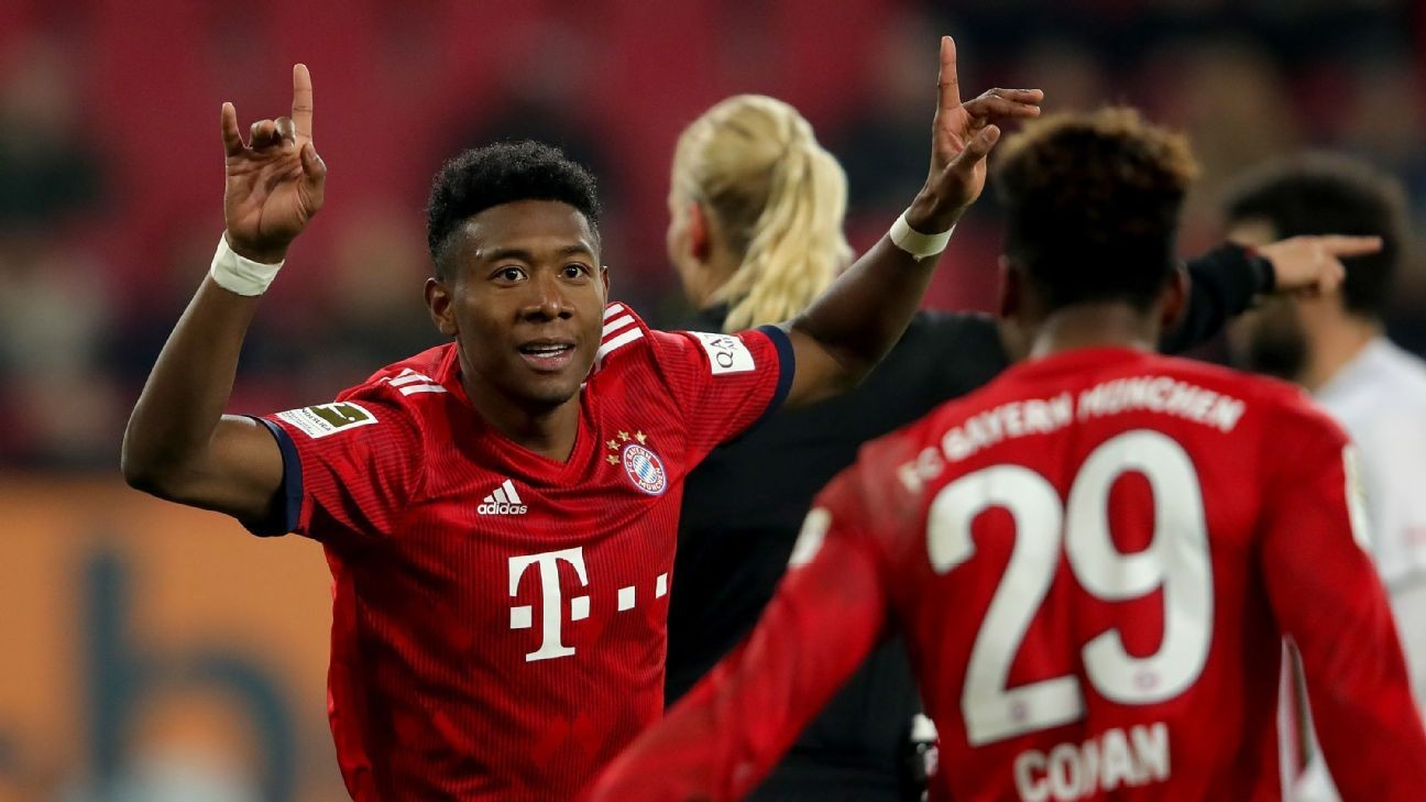Kingsley Coman brace helps Bayern Munich cut gap to Dortmund