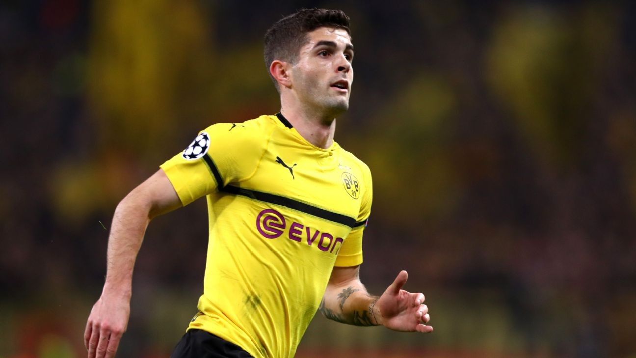 Borussia Dortmund's Christian Pulisic out at least one game with thigh injury