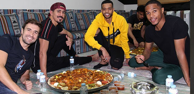Hamed Ismail holds a dinner party