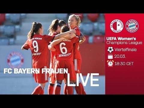 LIVE 🔴 | Slavia Prag vs. FC Bayern | UEFA Women's Champions League 2018/19 - Viertelfinale