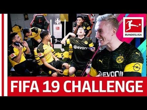 Borussia Dortmund - FIFA 19 Challenge - Reev, Sancho & Pulisic vs. DJ Mariio, Alcacer & Hakimi