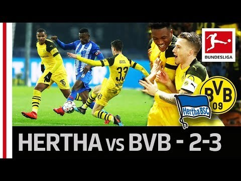 Hertha Berlin vs. Borussia Dortmund I 2-3 I Reus' Last-Minute Goal Secures BVB Comeback