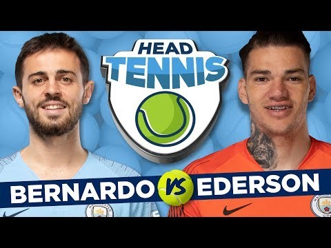 BERNARDO SILVA AND EDERSON HEAD TENNIS CHALLENGE! | Portugal v Brazil!