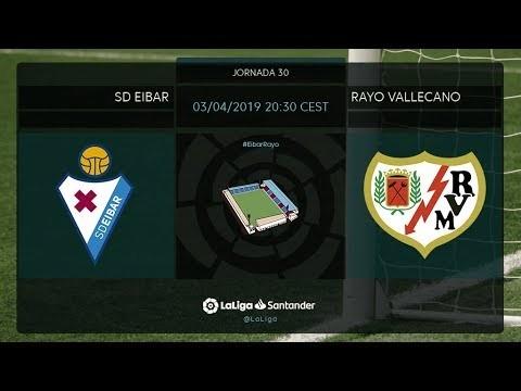 Calentamiento SD Eibar vs Rayo Vallecano