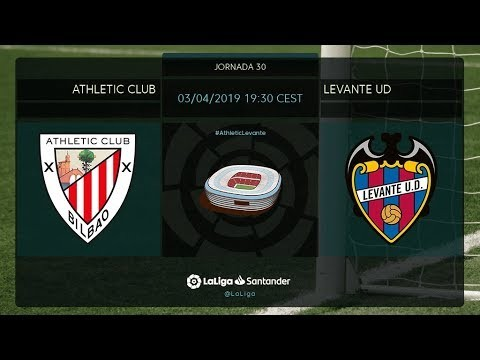 Calentamiento Athletic Club vs Levante UD