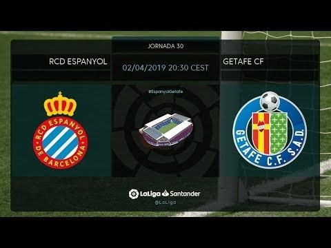 Calentamiento RCD Espanyol vs Getafe FC