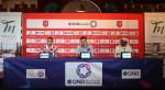 Al Duhail coach Rui Faria and striker Yousef El Arabi speak to the media ahead of their big match against Al Sadd at the Tawar Mall