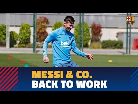 Nine Barça internationals return to training