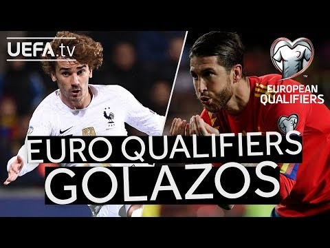 GRIEZMANN, RAMOS: 10 Great EURO Qualifiers GOALS from Matchday One & Two!!