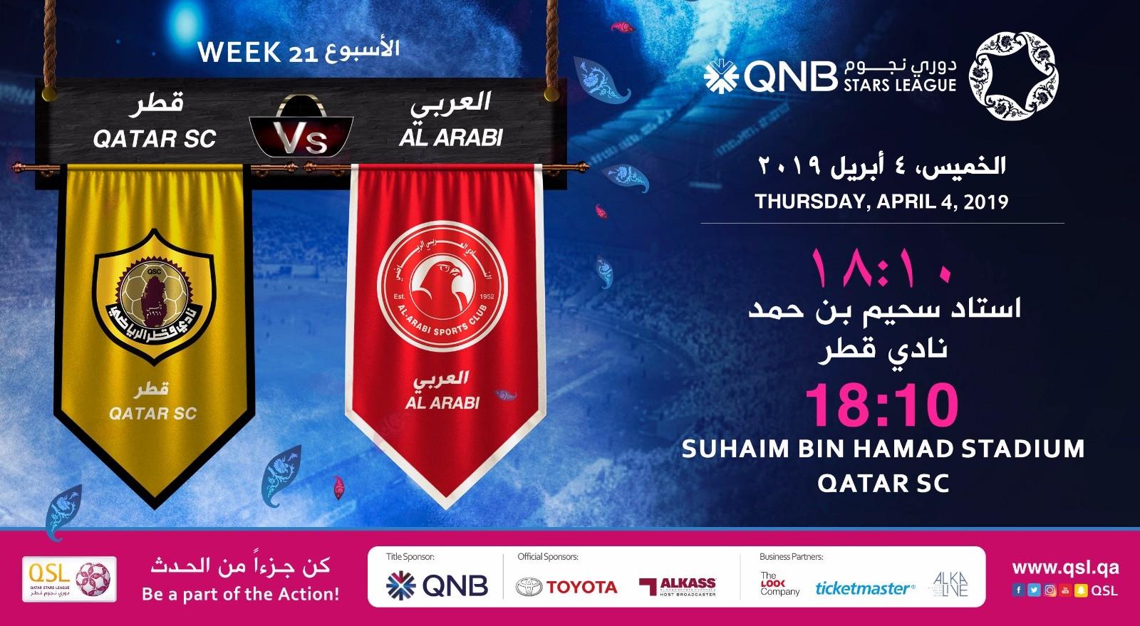 QNB Stars League Week 21 — Qatar SC vs Al Arabi