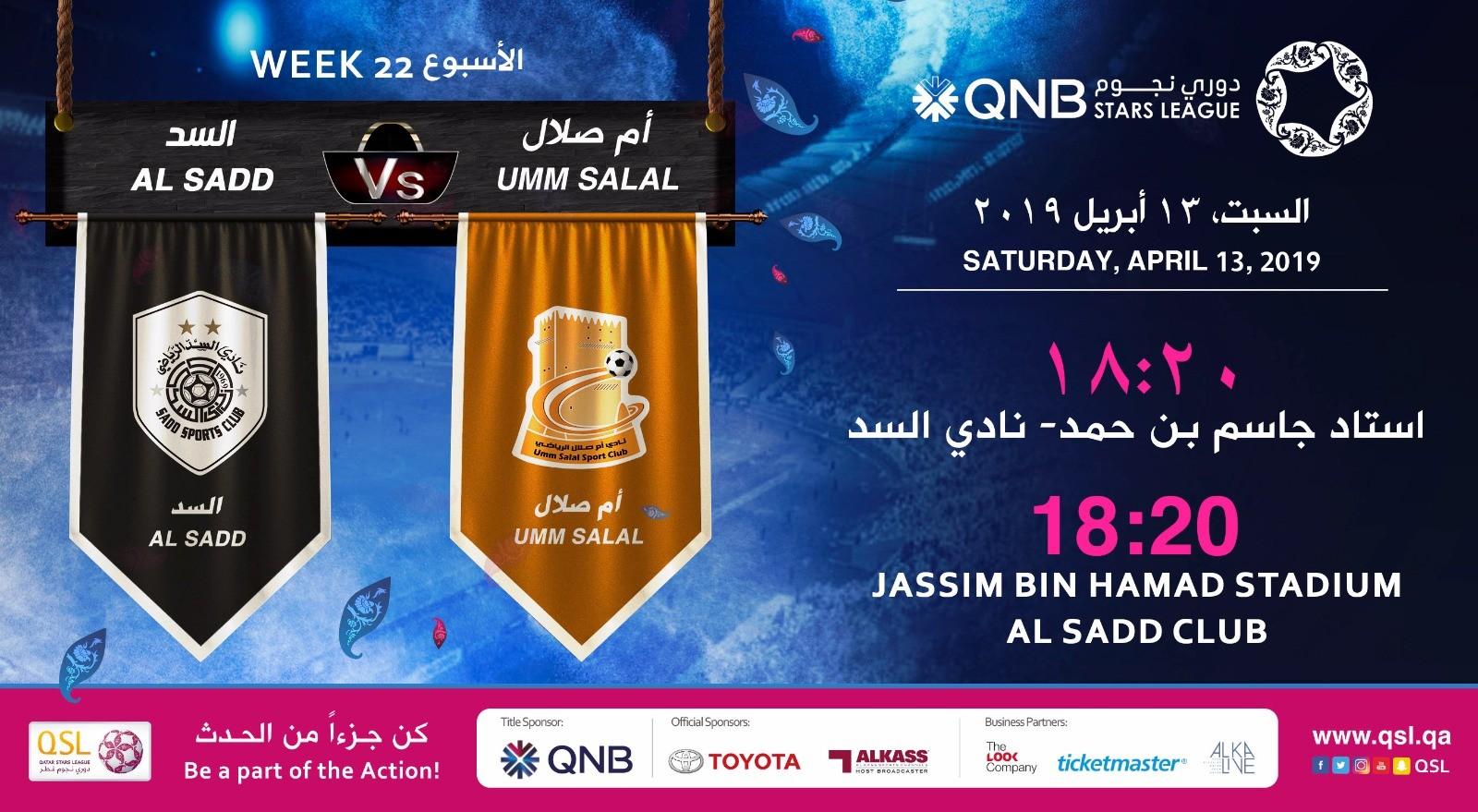 QNB Stars League Week 22 — Al Sadd vs Umm Salal