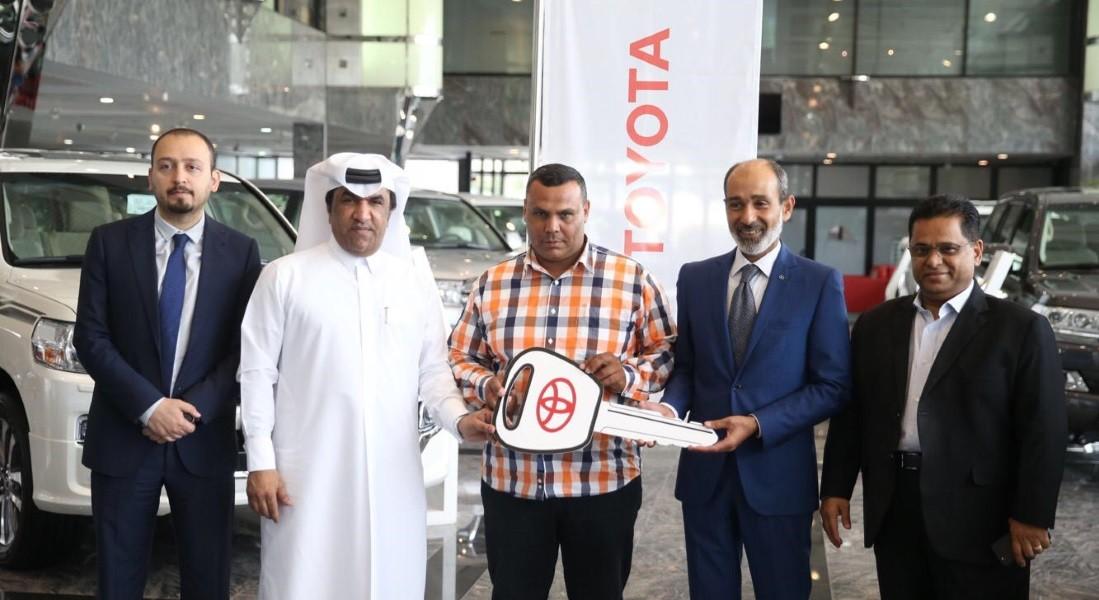 Toyota car presented to winner of draw held at Al Duhail vs Al Sadd match