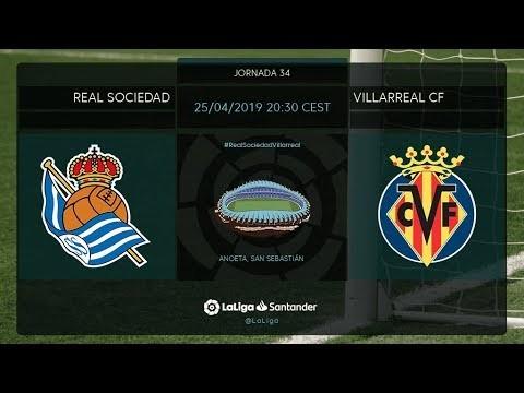 Calentamiento Real Sociedad vs Villarreal CF