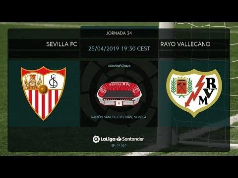Calentamiento Sevilla FC vs Rayo Vallecano