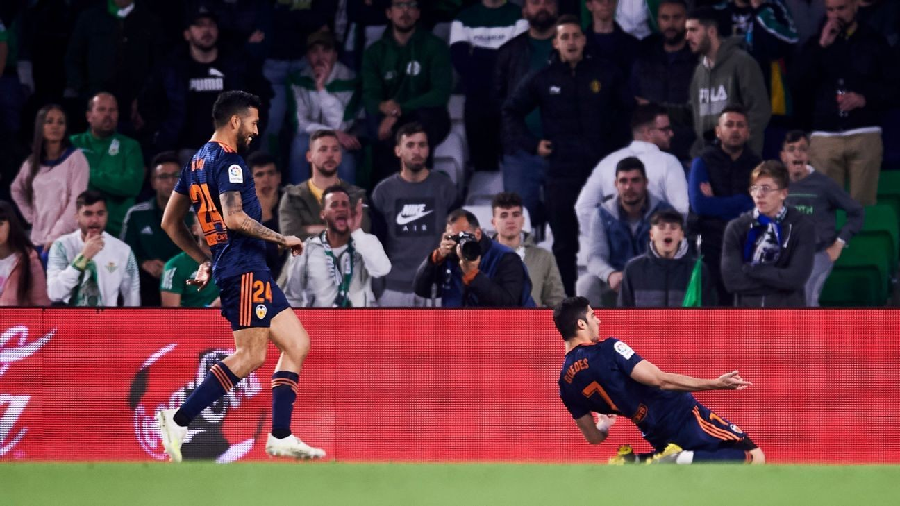 Goncalo Guedes double boosts Valencia's top-four push with defeat of Betis
