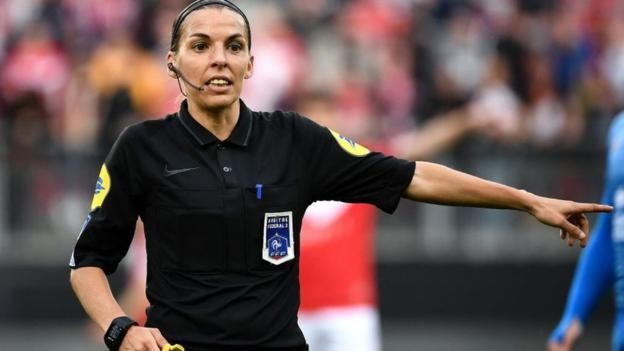 Stephanie Frappart first woman to referee Ligue 1 match