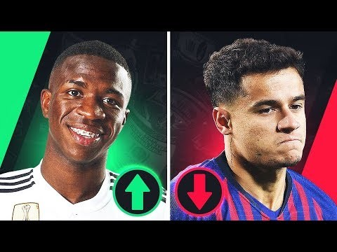 PLAYERS who have RISEN and FALLEN in TRANSFER VALUE - GOAL24