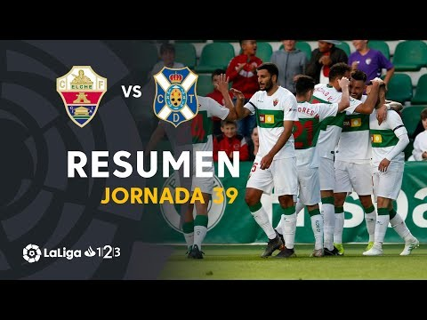 Resumen de Elche CF vs CD Tenerife (3-0)