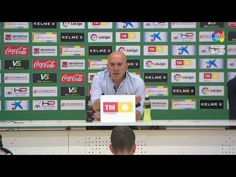 Rueda de prensa de Luis César Sampedro tras el Elche CF vs CD Tenerife (3-0)