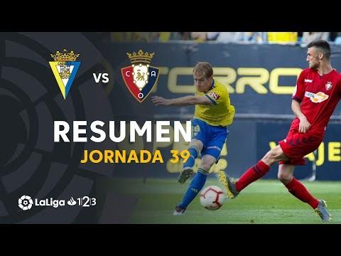 Resumen de Cádiz CF vs CA Osasuna (0-0)