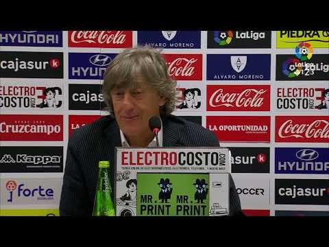 Rueda de prensa de Enrique Martín Monreal tras el Córdoba CF vs Nàstic (4-3)