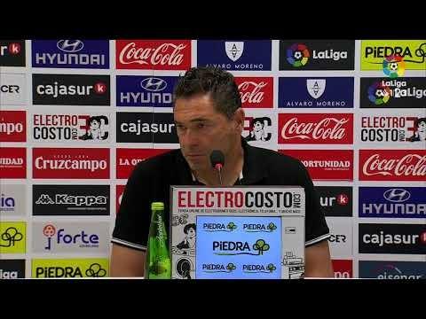 Rueda de prensa de Rafa Navarro tras el Córdoba CF vs Nàstic (4-3)
