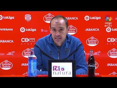 Rueda de prensa de Eloy Jiménez tras el CD Lugo vs RC Deportivo (1-0)