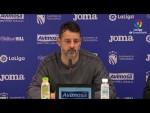 Rueda de prensa de  Baldomero Hermoso tras el CF Fuenlabrada vs Girona FC (0-1)