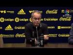 Rueda de prensa de Álvaro Cervera tras el Cádiz CF vs Real Zaragoza (1-1)