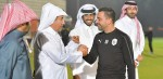 H.H. Sheikh Mohammed attends the session as Al-Sadd wrap up preparations for Sepahan