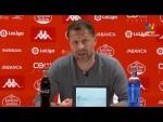 Rueda de prensa de  Curro Torres tras el CD Lugo vs Real Oviedo (1-0)