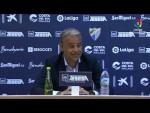 Rueda de prensa de Sergio Pellicer tras el Málaga CF vs Real Racing Club (2-0)