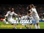 Every Champions League goal 2015/16   Ramos, Bale, Cristiano, penalties in Milan & a record 8-0 win!
