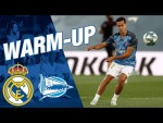 📺 Real Madrid warm-up ahead of Alavés!