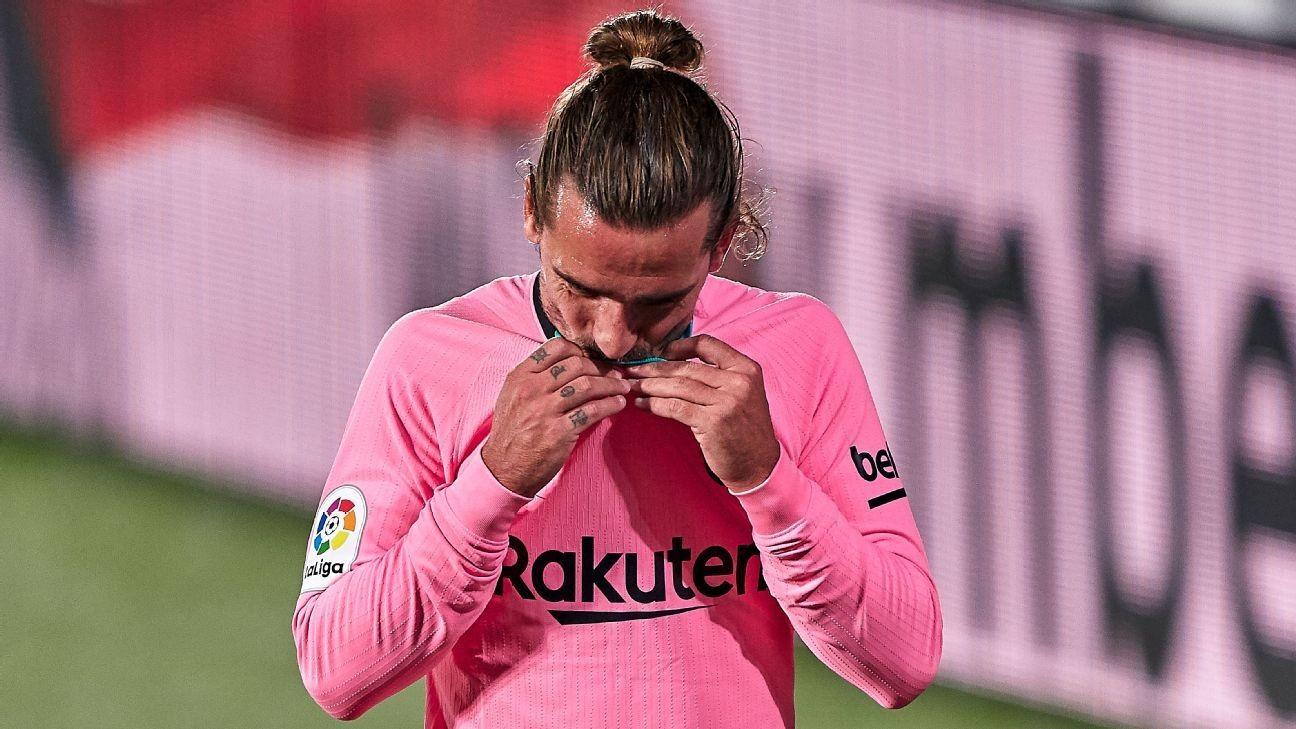 Griezmann 5/10, Dest 7/10 in Barca's first defeat under Koeman